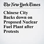 Chinese City Backs down on Proposed Nuclear Fuel Plant after Protests | Chris Buckley