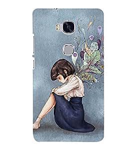 Sad Girl 3D Hard Polycarbonate Designer Back Case Cover for Huawei Honor 5X :: Huawei Honor X5 :: Huawei Honor GR5