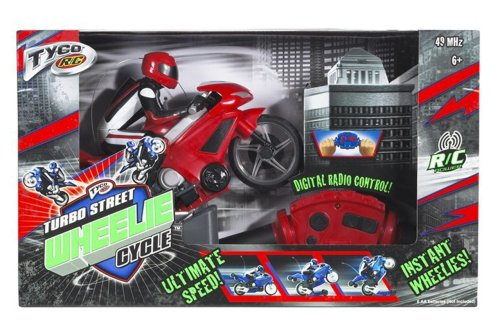 TYCO R/C Turbo Street Wheelie Cycle Motorcycle 49 MHz