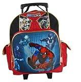 """Spiderman 12"""" Toddler Rolling Backpack - Spider Sense"""
