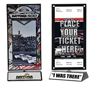 Jimmie Johnson 2013 Daytona 500 I WAS THERE Rotating Ticket Display by Mounted Memories