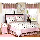 Pink And Brown Modern Dots Childrens Bedding 4pc Twin Set By Sweet Jojo Designs