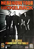 Nickelback Here And Now FRA 2012 - Concert Poster Concertposter