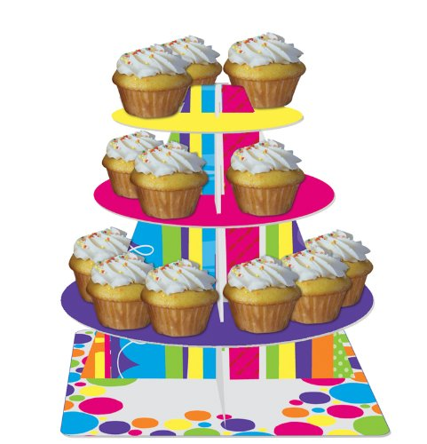Bright And Bold Tiered Cupcake Stand 8 Ct