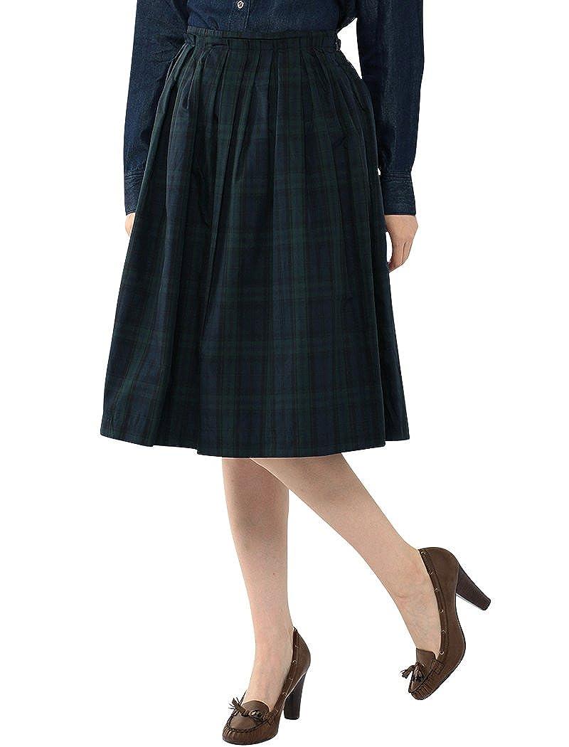 (エーシーデザインバイアルファキュービック)A/C DESIGN BY ALPHA CUBIC メモリーチェックフレアースカート : 服&ファッション小物通販 | Amazon.co.jp