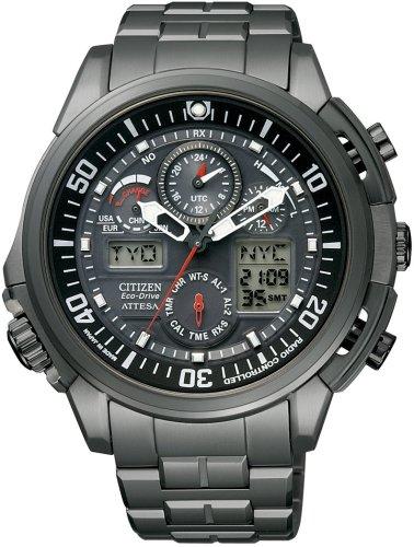 CITIZEN (シチズン) 腕時計 ATTESA アテッサ Eco-Drive エコ・ドライブ 電波時計 ワールドタイム ジェットセッター ATV53-2933 メンズ