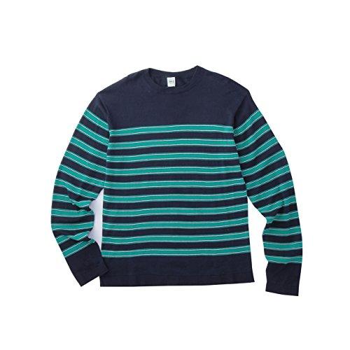 (タケオ キクチ)TAKEO KIKUCHI ボーダーニットソー/パネルボーダーニットソーロングスリーブTシャツ ブルー系(395) 01(S)