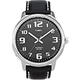 Timex Men's Easy Reader Large Dial Watch (Color: Black/Silver-Tone)