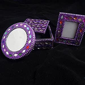 amazon com handmade lot of 3 pcs jewelry box photo frame