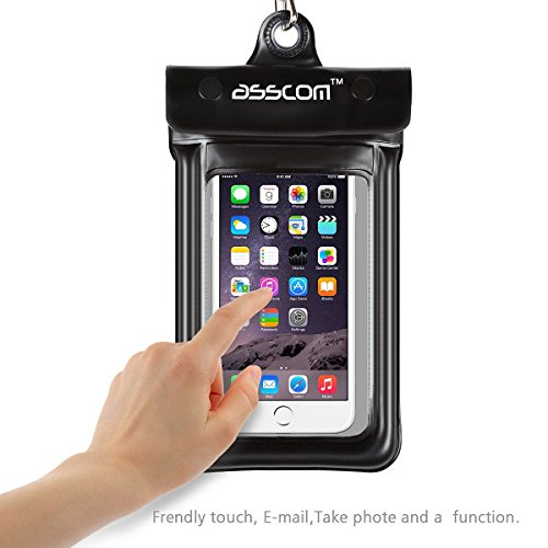Asscom(TM)Waterproof Case, Snowproof, Dustproof Case Bag for iPhone 6,6 Plus,5S 5C 5 4S, Samsung Galaxy S3/S4/S5/S6,Note2/3/4 and all Smartphone