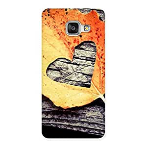 Delighted Leaf Heart Back Case Cover for Galaxy A3 2016