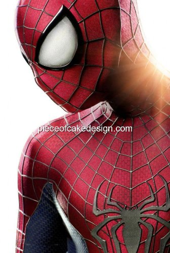 1/4 Sheet ~ The Amazing Spider-Man Half Sunrise Birthday ~ Edible Image Cake/Cupcake Topper!!!