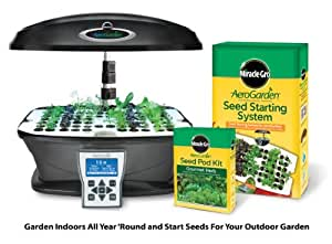 Miracle-Gro AeroGarden ULTRA Indoor Garden with Gourmet Herb Seed Pod Kit Plus Bonus Seed Starter System (Discontinued by Manufacturer)