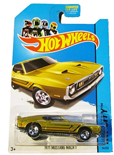 2014 Hot Wheels 1971 Mustang Mach 1 94/250 Gold Hw City