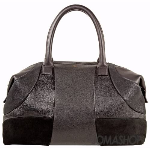 1a0686d1e17f Amazon.com  Celine Black Leather Boston Bag 165473EPB-BK
