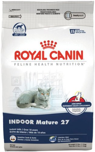 Image of Royal Canin Dry Cat Food, Indoor Mature 27 Formula, 2.5-Pound Bag