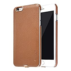 iPhone 6 Plus Case, Nillkin Qi Standard Wireless Charging Receiver Leather Case [Compatible with Magnetic Holder] for iPhone 6/6S Plus - Brown