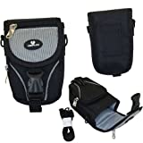 Case4Life Black/Grey Large Digital Camera and Accessory Case for Panasonic Lumix DMC- FH, FS, FT, FX, LS, S, SZ, T, TZ, X, 3D Series à Lifetime Guarantee
