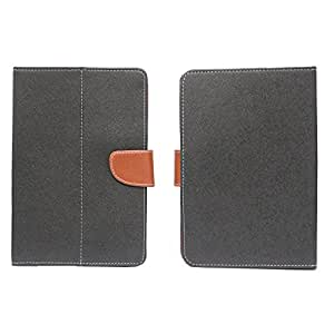 BRAIN FREEZER MERCURY 7INCH FLIP FLAP CASE COVER POUCH CARRY FOR LAVA MOBILES XTRON ETAB BLACK BROWN