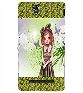 PrintDhaba Cute Girl D-2472 Back Case Cover for SONY XPERIA C3 (Multi-Coloured)