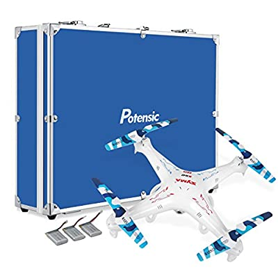 RC Quadcopter with Carrying Case&Parts, Potensic Premium Upgraded X5C-1 Syma 2.4GHz CH 6 Axis Gyro RC Quadcopter with Additional Spare Parts and Carrying Case