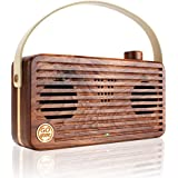 Premium Hand Crafted Wood Bluetooth Speaker with NFC Technology by GOgroove - Works With Apple iPhone 6 , Samsung Galaxy S6 , SanDisk Sansa and More