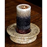 3 Tier Fossil Stone Candle Dish Color: Fossil Stone