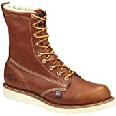 Men's Thorogood 8 inch Waterproof Composite Toe Wedge Boots Brown