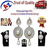 A TO Z Sales Designer Jhumka Antique Imitation & Pearl Earrings for Women(AZ13024)