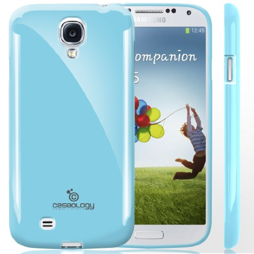 Galaxy S4 Case, Caseology [Drop Protection] Samsung Galaxy S4 Case [Sky Blue] Slim Fit Tpu Cover [Shock Absorbent] Armor Bumper Galaxy S4 Case (For Samsung Galaxy S4 Verizon, At&T Sprint, T-Mobile, Unlocked) front-609316