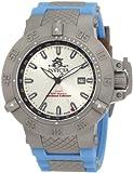 Invicta Men's 1590 Subaqua Noma III Silver Dial Blue Silicone Watch