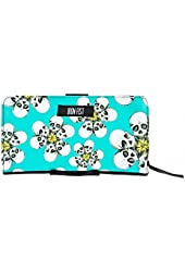 Women's Iron Fist Tripping Daisies Wallet Turquoise