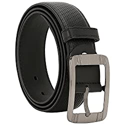Comfort Zone India Black Linked Design Men's Belt