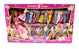 My Beautiful Angel Princess 37 Piece Toy Doll Playset, Comes w/ 34 Different Dress Outfits, Princess Doll, Hair Brush, Hair Clip