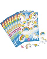 Unicorn Rainbow Sticker Sheets (1 dz) by Fun Express