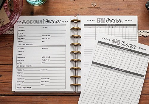 Bill Payment Tracker for the Happy Planner, Account, Debt Snowball Form