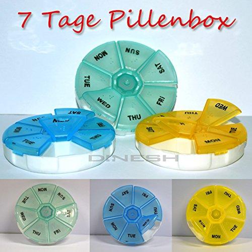 (780) 7 Tage Rund Pillendose Tablettenbox