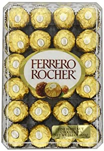 Ferrero Rocher Fine Hazelnut Chocolates, 48 Count