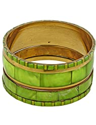 Set Of 4 Parrot Green Bangles Set For Women Costume Fashion Jewellery From India - B00NQR9DFC