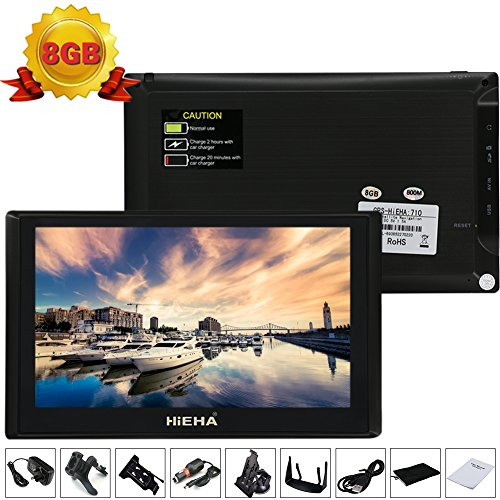 Hieha-7-Zoll-8GB-Auto-KFZ-Europe-Traffic-GPS-Navi-Navigation-Navigationssystem-Navigationsgert-Neueste-Karten-Blitzerwarnungen