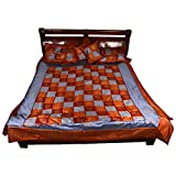 Chaman Handicrafts Cotton Multi Color Bedspread With 2 Pillow Covers And 2 Cushion Covers (228.6 Cm*274.32 Cm)...