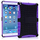 Vogue Shop Ipad Air Case, Ipad Air Case Cover - Ipad 5 Shock-absorption / Impact Resistant Hybrid Dual Layer Armor Defender Protective Case Cover with Built-in Kickstand for Apple Ipad Air 5th Gen 2013 (Three Month Warranty) (Gift for Screen Protector Film and Clean Cloth) (ipad air purple)