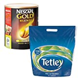 Nescafe Gold Blend 750g Coffee + Tetley 1100 Tea Bags MULTI-PACK SPECIAL