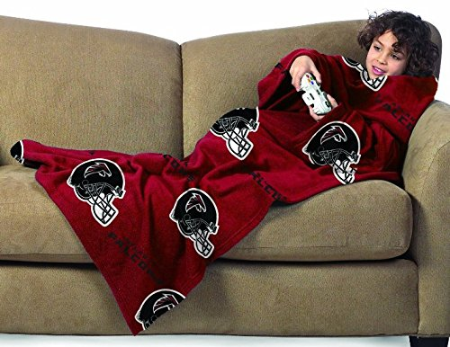NFL Atlanta Falcons Youth Size Comfy Throw Blanket with Sleeves