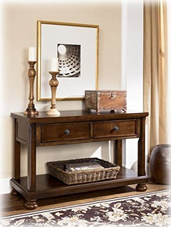 Rustic Brown Console Sofa Table - Signature Design by Ashley Furniture