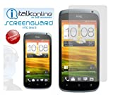 ITALKonline S-Protect (Pack of 3) 3 Layer Technology LCD Screen Guard Protector with Micro Fibre Cleaning Cloth For HTC One S