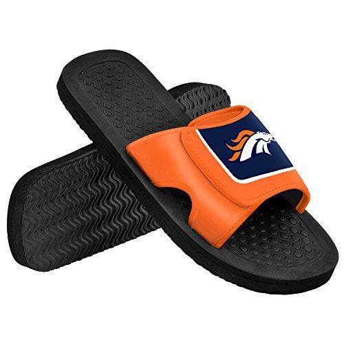 2014 Mens Nfl Football Shower Slide Flip Flop Sandals - Choose Team (Denver Broncos, Large (11-12))