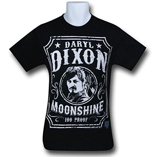 The Walking Dead Daryl Dixon Moonshine T-Shirt - Black (Large)