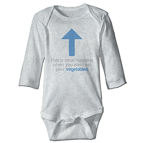 [Vegetables Blue Arrow Cute Boy And Girl Infants Romper Jumpsuit 24 Months Ash] (Dances With Wolves Costumes Designer)
