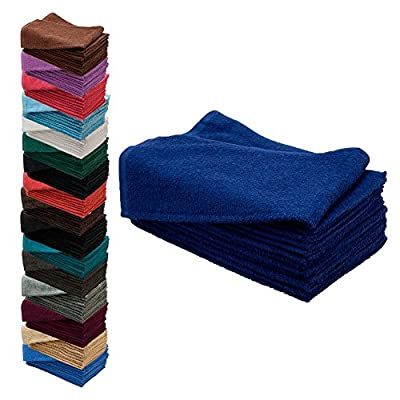"12 Pack 15"" x 25"" Bleach Chemical Resistant Cotton Hair Towels"
